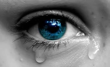 human eye tearing